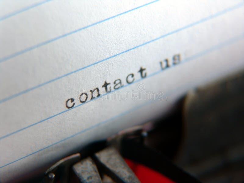 Schrijfmachine - contacteer ons royalty-vrije stock foto