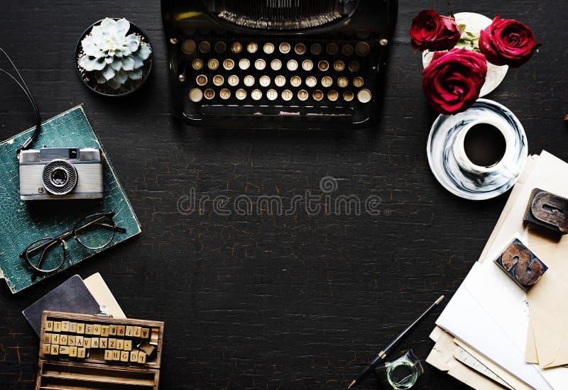 Schrijfmachine, Doopvont, Merk stock afbeelding