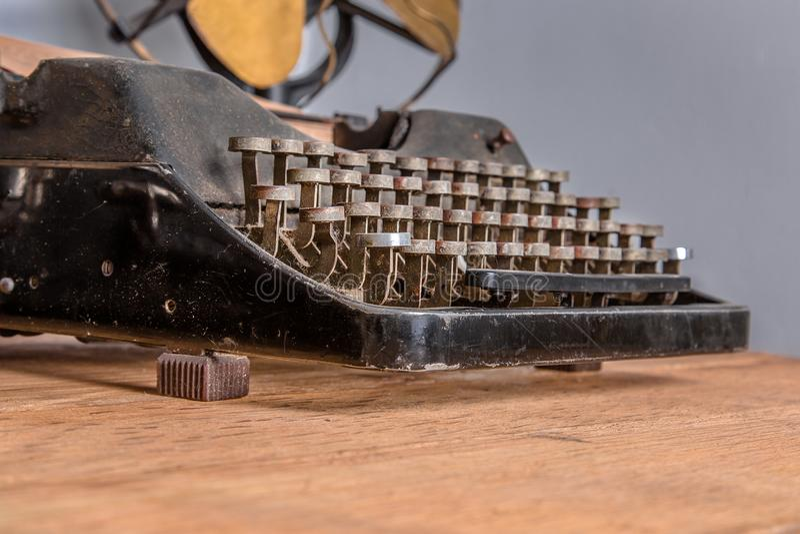 Schrijfmachine, Retro Heropleving royalty-vrije stock foto's