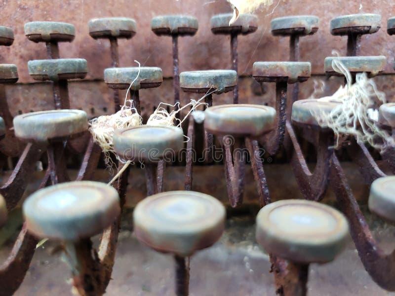 Schrijfmachine zonder brieven royalty-vrije stock afbeeldingen