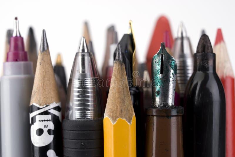 Schrijvende hulpmiddelen. stock afbeeldingen
