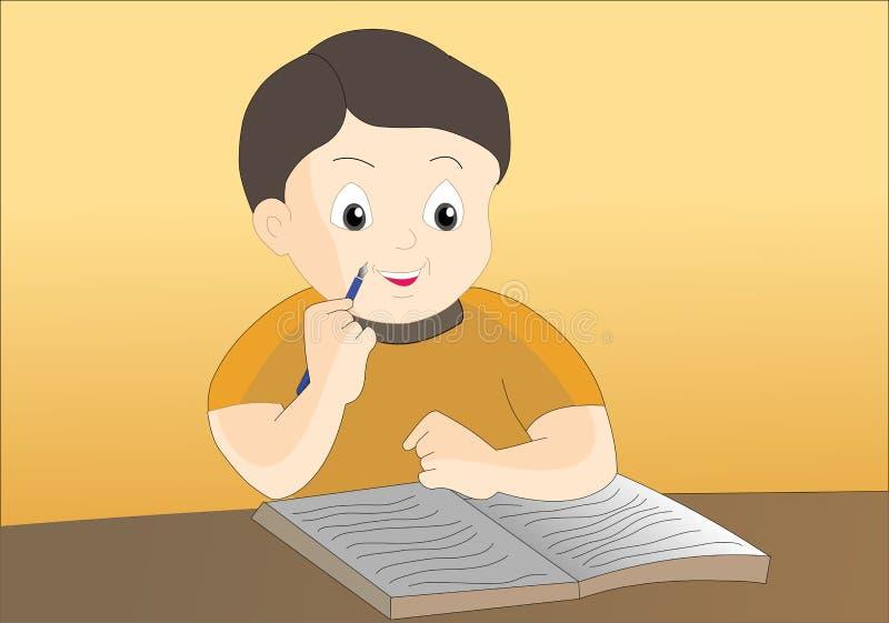 Schrijvende pen stock illustratie