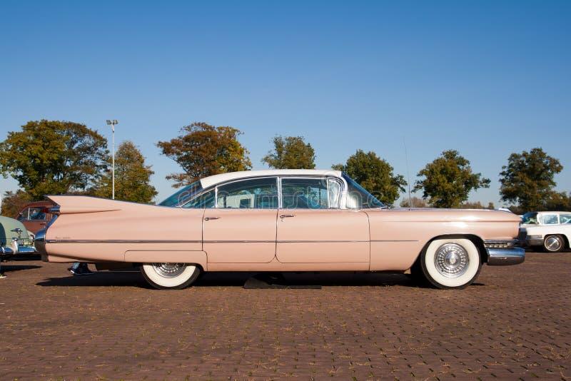 Schrijver uit de klassieke oudheid 1959 Cadillac Sedan DE Ville royalty-vrije stock foto