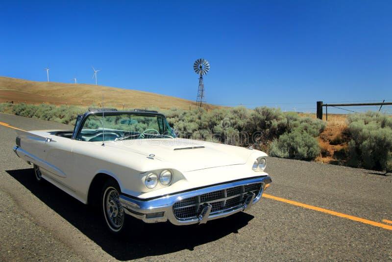 Schrijver uit de klassieke oudheid 1960 Ford Thunderbird Convertible royalty-vrije stock fotografie