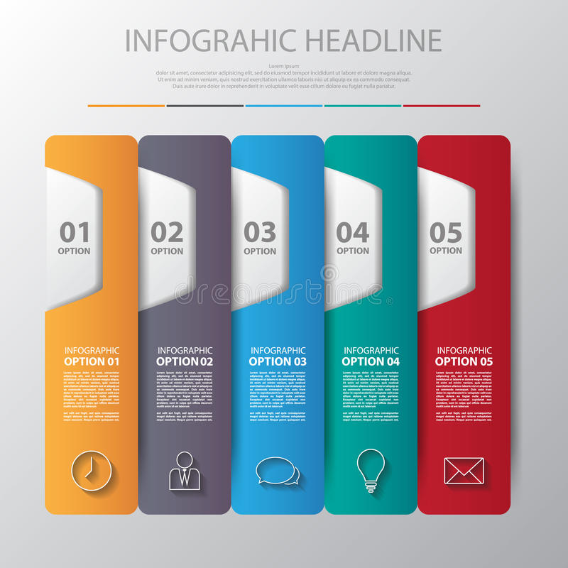 Schrittdesign des infographic Elements der vierteiligen Pyramide Vektor IL lizenzfreie abbildung
