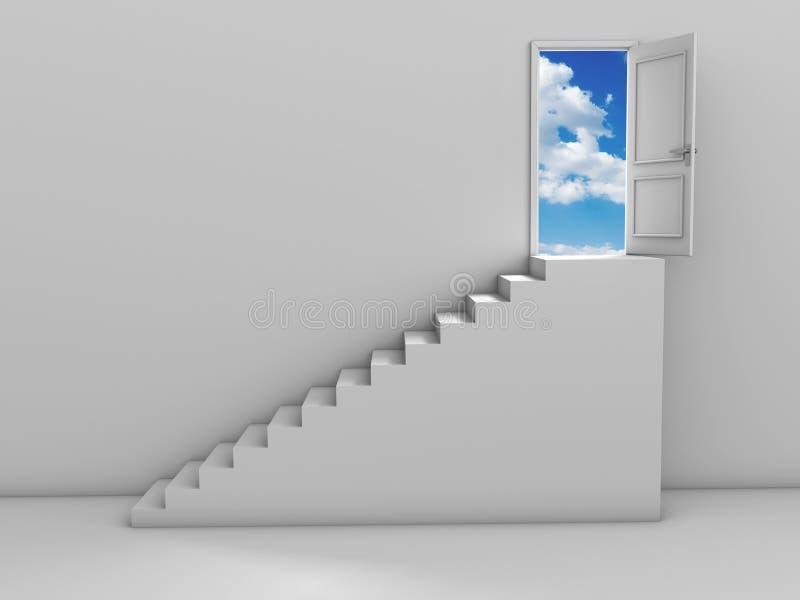 Schritte und Tür lizenzfreie abbildung