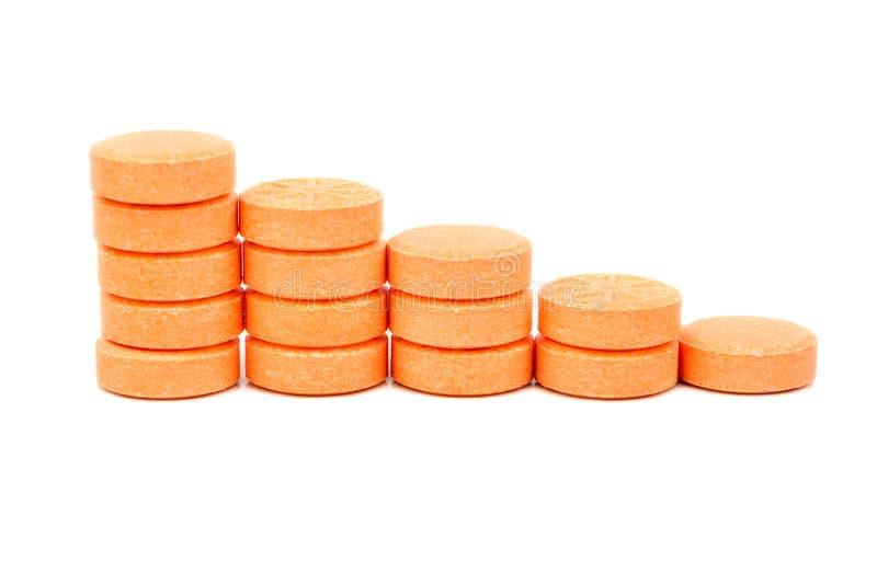Schritte von den Tabletten stockbilder