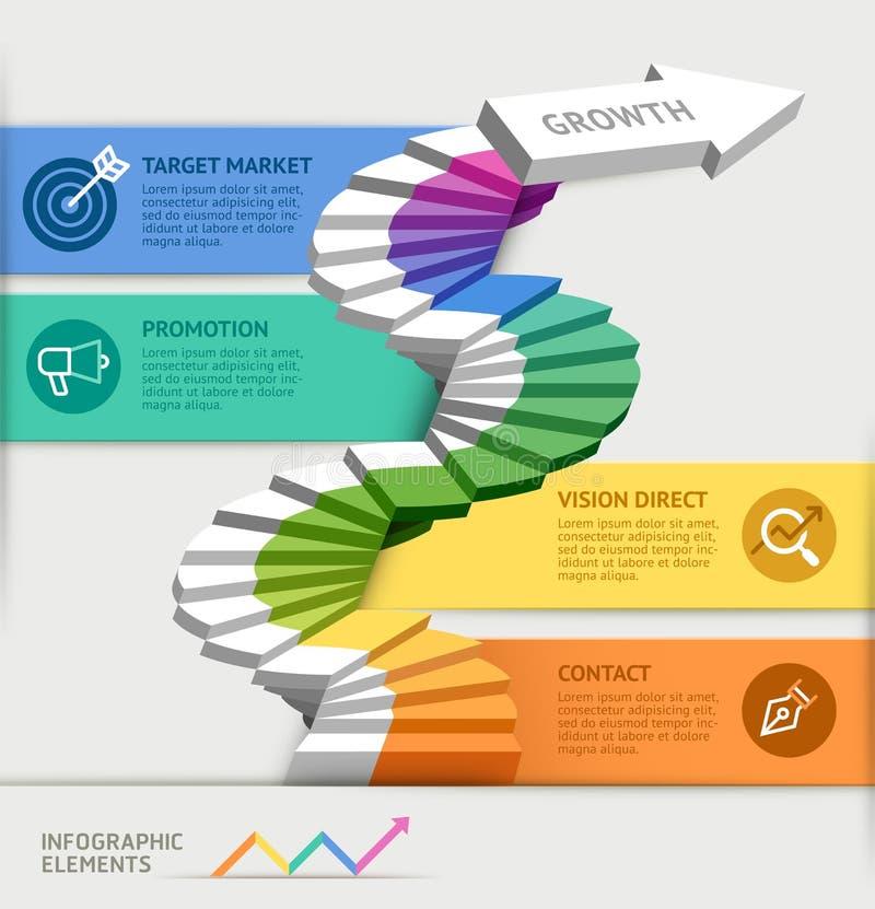Schritte zum Beginnen einer Geschäftsschablone vektor abbildung