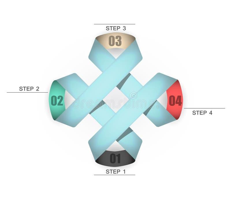 4 Schritte, zum Ihrer Daten anzusehen vektor abbildung