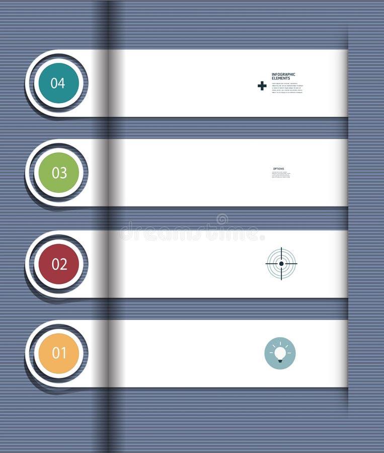 Schrittweise Schablone Infographic vektor abbildung