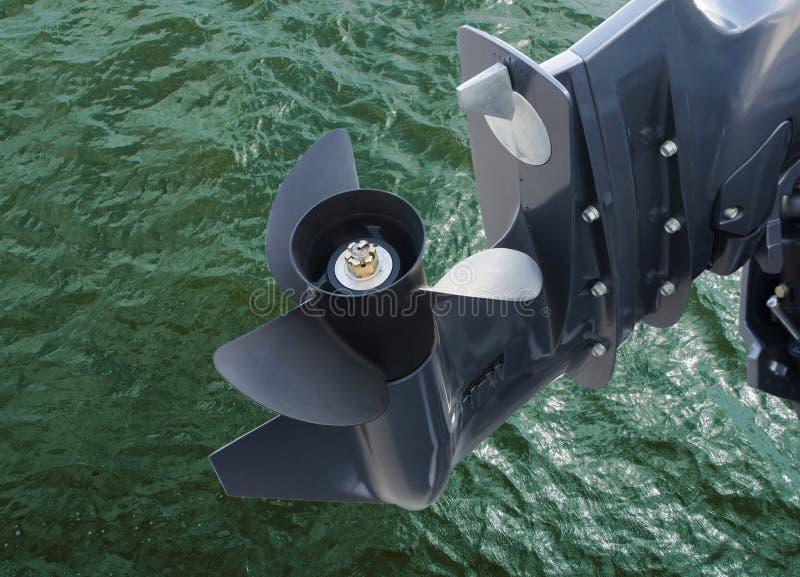 Schroef van motorboot royalty-vrije stock foto