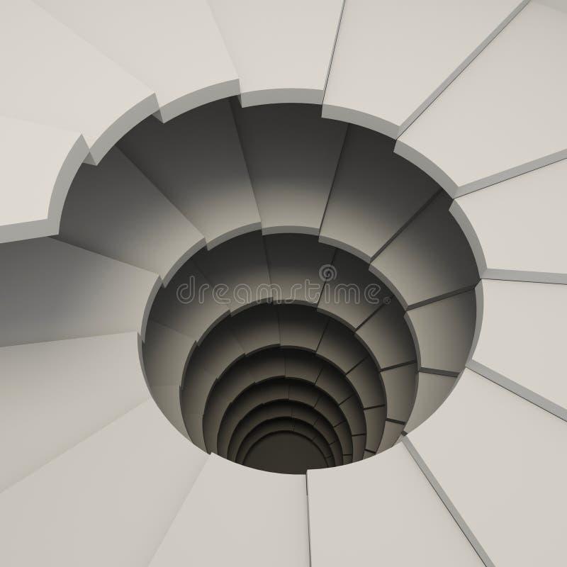 Schroef, wenteltrap Het concept het beklimmen vector illustratie