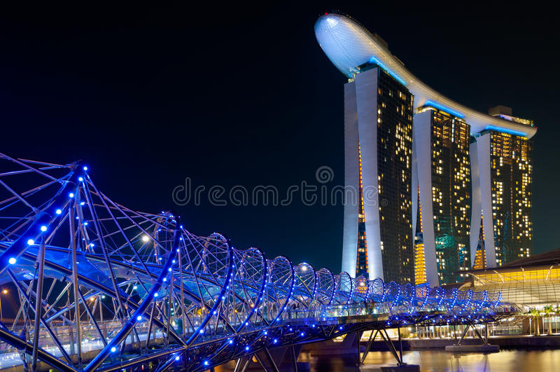 Schroefbrug, Singapore stock fotografie