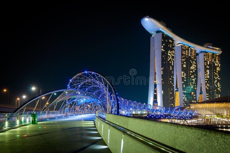 Schroefbrug, Singapore royalty-vrije stock afbeelding