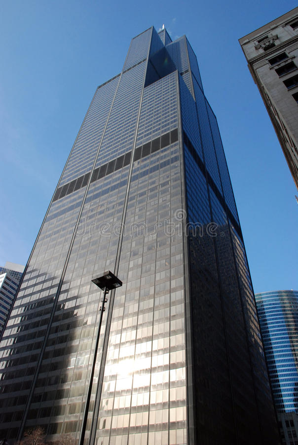 Schroeit Toren (Toren Willis) in Chicago royalty-vrije stock afbeeldingen