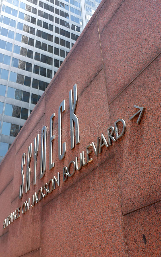 Schroeit Willis Tower in Chicago royalty-vrije stock afbeeldingen