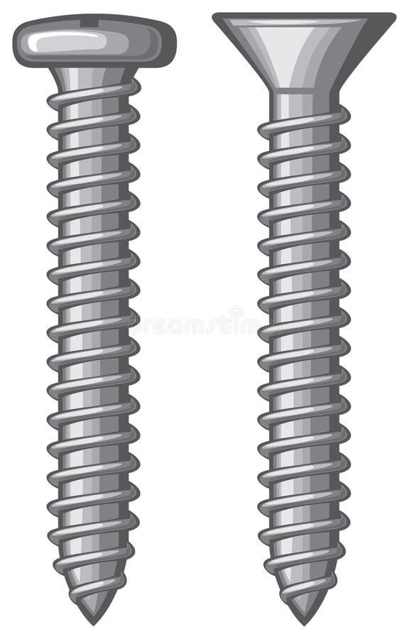 Schroeven stock illustratie