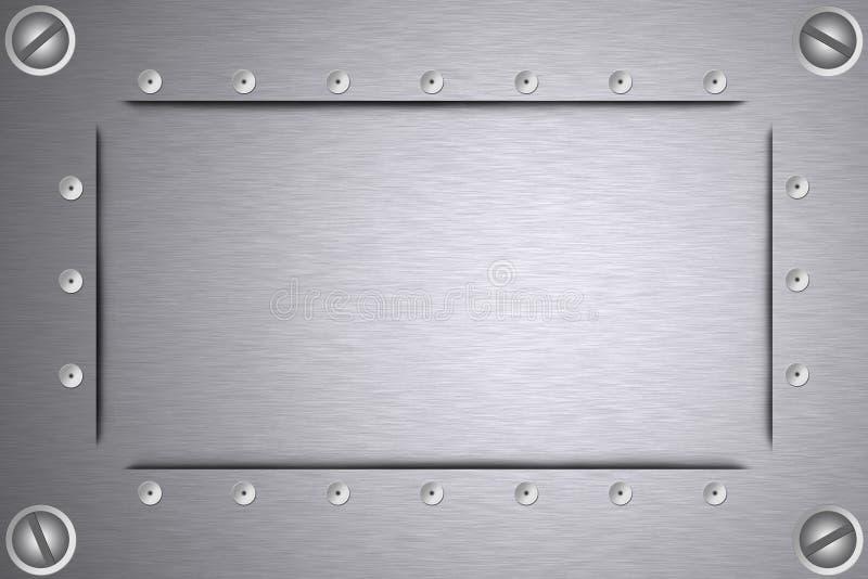 Schroeven en klinknagels in staal vector illustratie