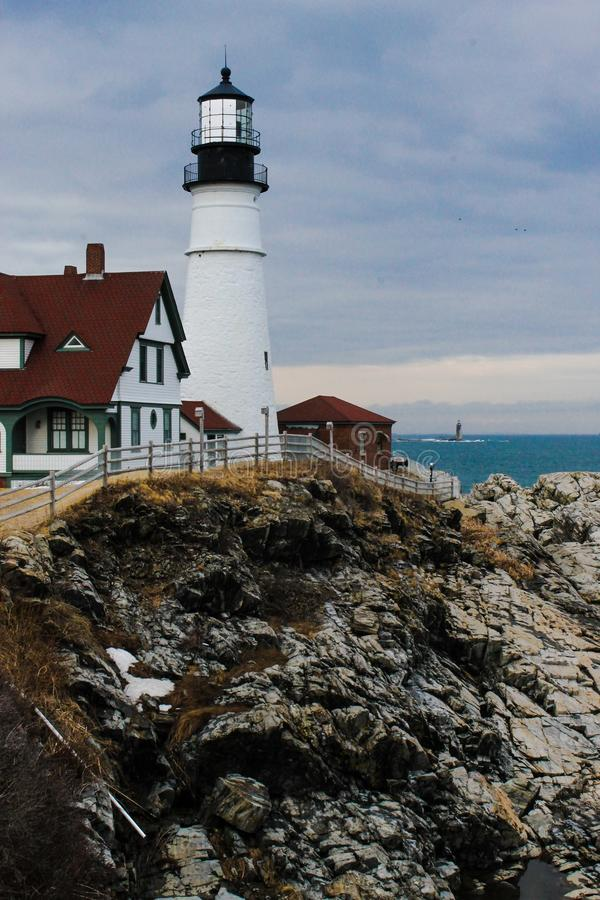 schronienia latarni morskiej Maine nubble York fotografia stock
