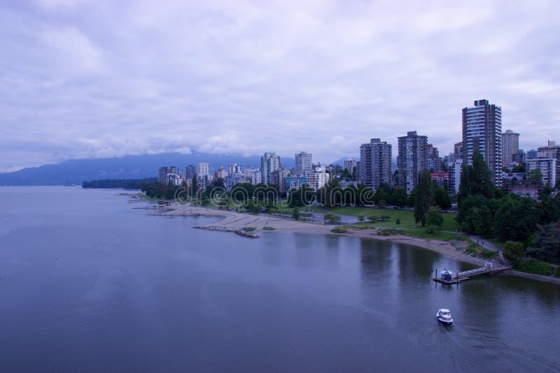 Schronienia taxi ciągnięcie w dok, Vancouver, BC (prom) zdjęcie royalty free
