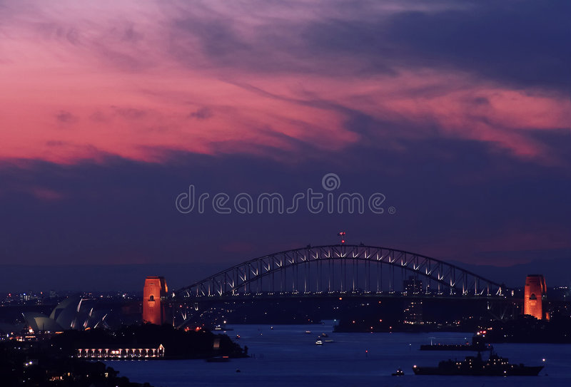 schronienie bridge domu opery Sydney zdjęcia royalty free