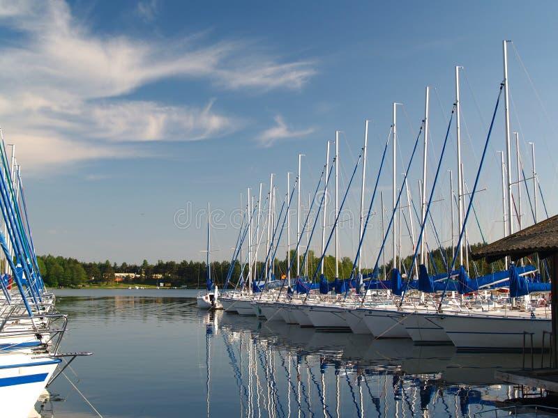 schronienie jachtów zdjęcia royalty free