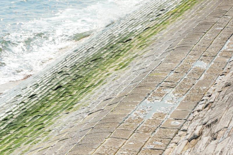 Schronienie oceanu i ściany fale obrazy stock