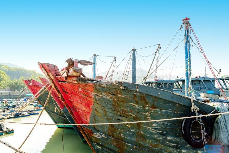 schronienie połowowego łódź fotografia royalty free