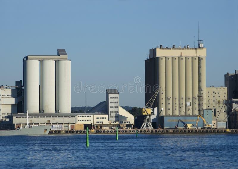 schronienie silosów przemysłowych zdjęcie royalty free