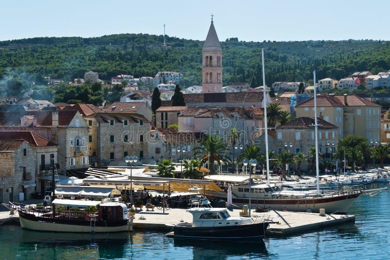 Schronienie Supetar, Chorwacja obrazy royalty free