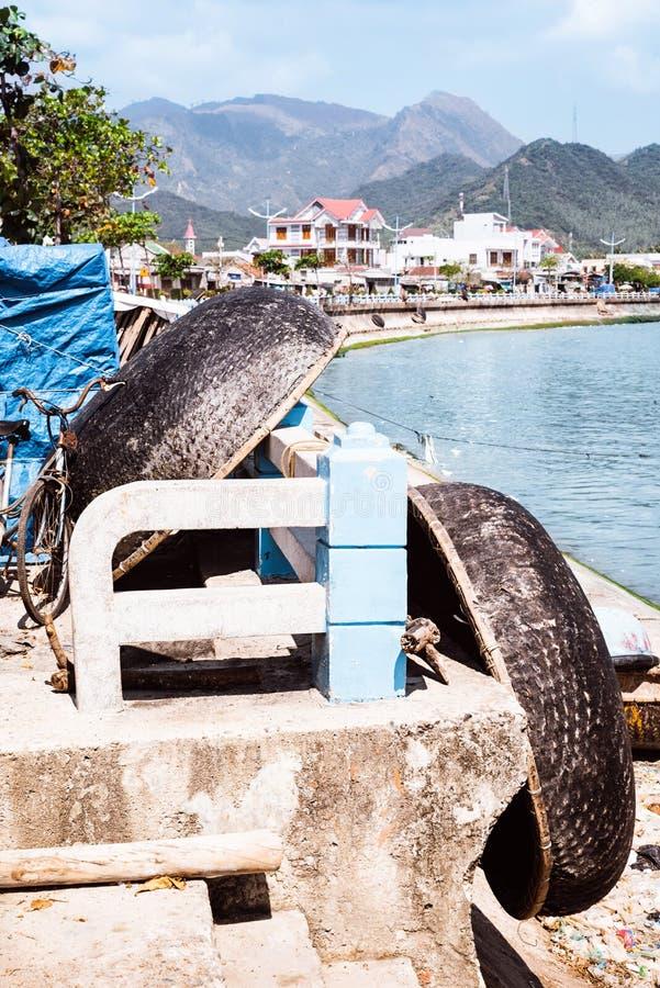 Schronienie z połowu wietnamczyka łodziami fotografia stock