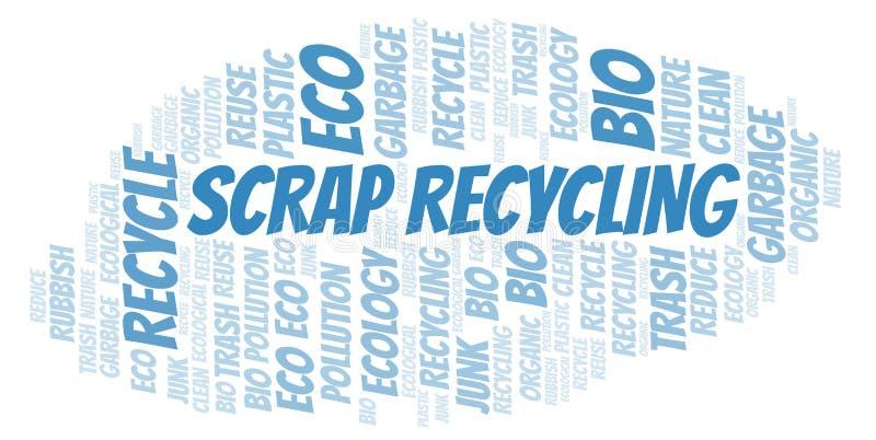 Schroot de wolk van het Recyclingswoord vector illustratie