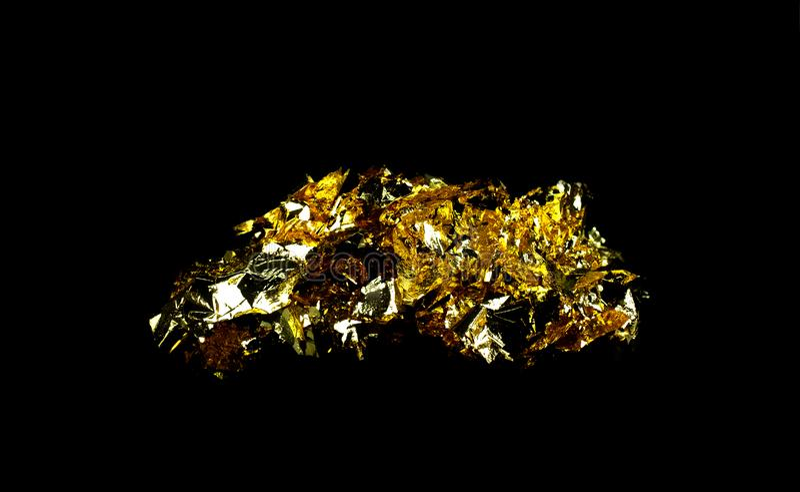 Schroot gouden folie a royalty-vrije stock fotografie