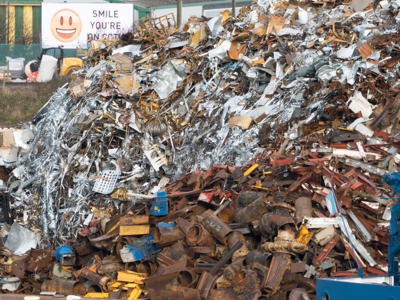 Schroot in Grote Hoop in Yard stock fotografie