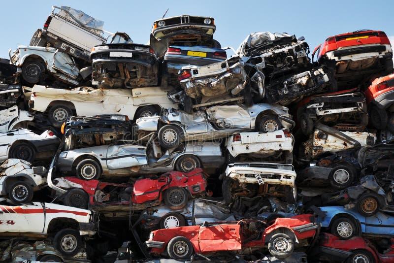 Schrootauto's stock afbeelding