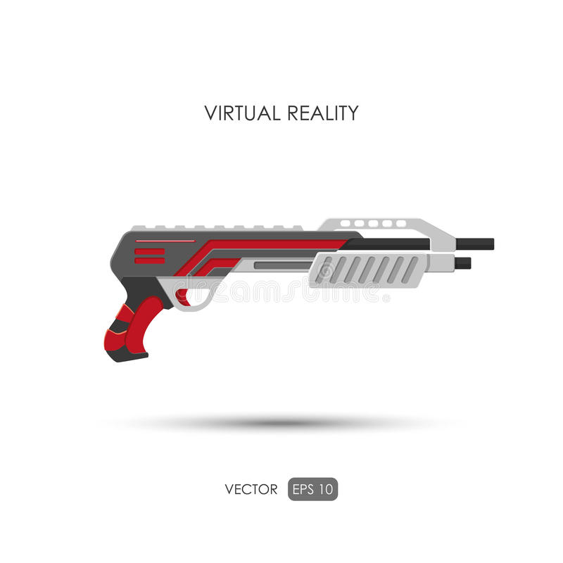 schrotflinte Gewehr für System der virtuellen Realität Videospielwaffen vid stock abbildung