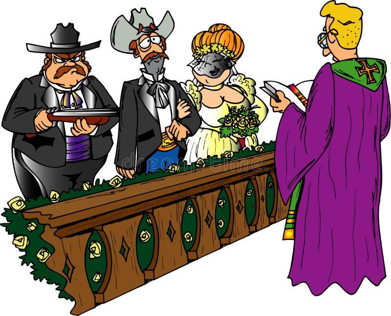 Schrotflinte-Hochzeit stock abbildung