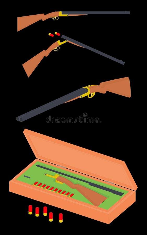 Schrotflinte mit 12 Messgeräten stock abbildung