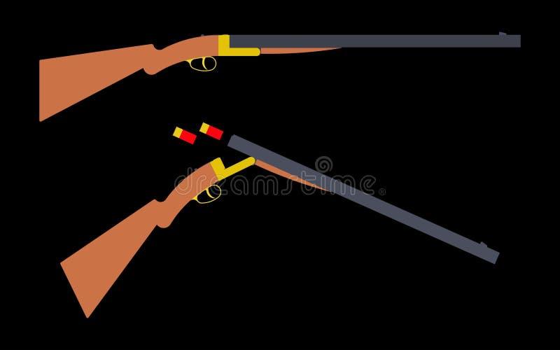 Schrotflinte mit 12 Messgeräten einfach stock abbildung