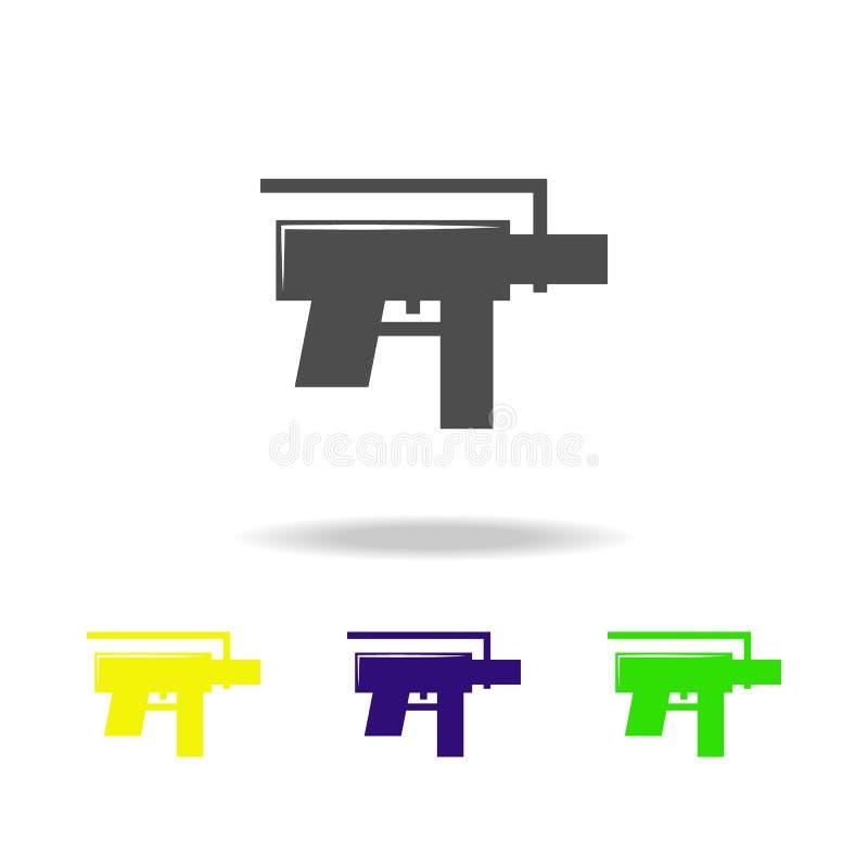 Schrotflinte, Waffe färbte Ikonen Element der Militärillustration Zeichen und Symbole können für Netz, Logo, mobiler App, UI, UX  stock abbildung