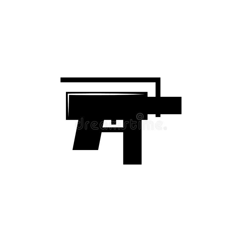 Schrotflinte, Waffenikone Element der Militärillustration Zeichen und Symbolikone für Website, Webdesign, mobiler App vektor abbildung