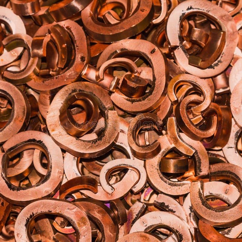 Schrotthaufen des Kupfers stockfoto