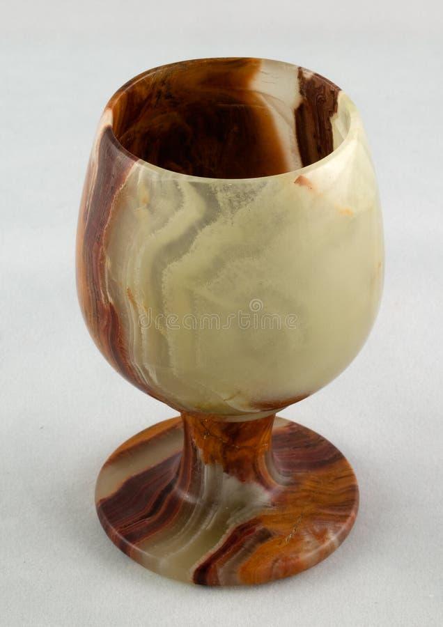 Schußglas vom natürlichen Stein stockfoto