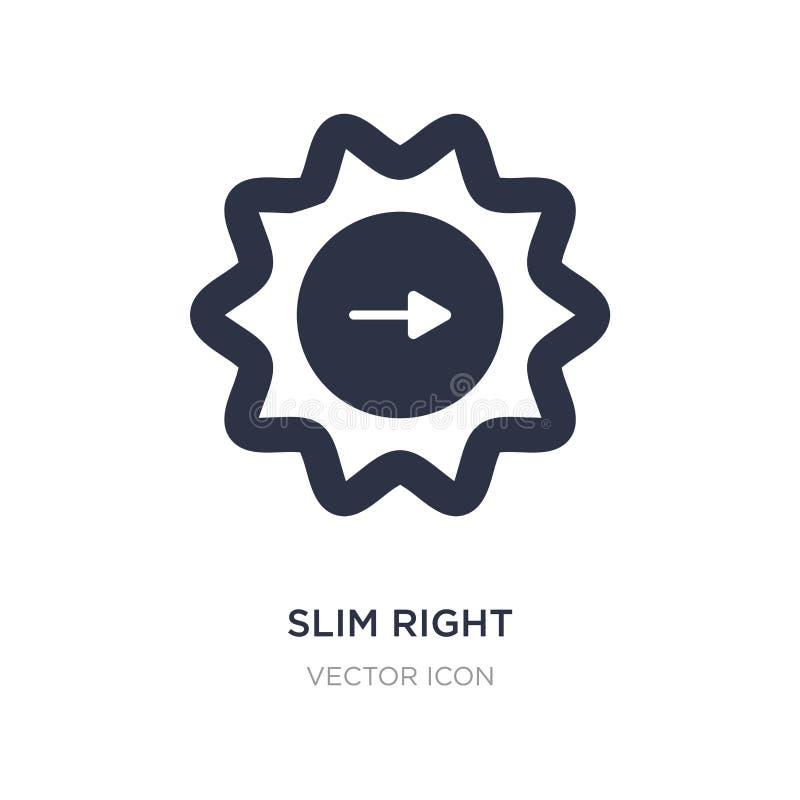 schudnięcie prawa ikona na białym tle Prosta element ilustracja od UI pojęcia ilustracja wektor