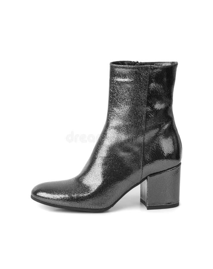 Schuh der schwarzen Frau stockbilder