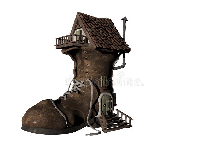 Schuh-Haus vier stock abbildung
