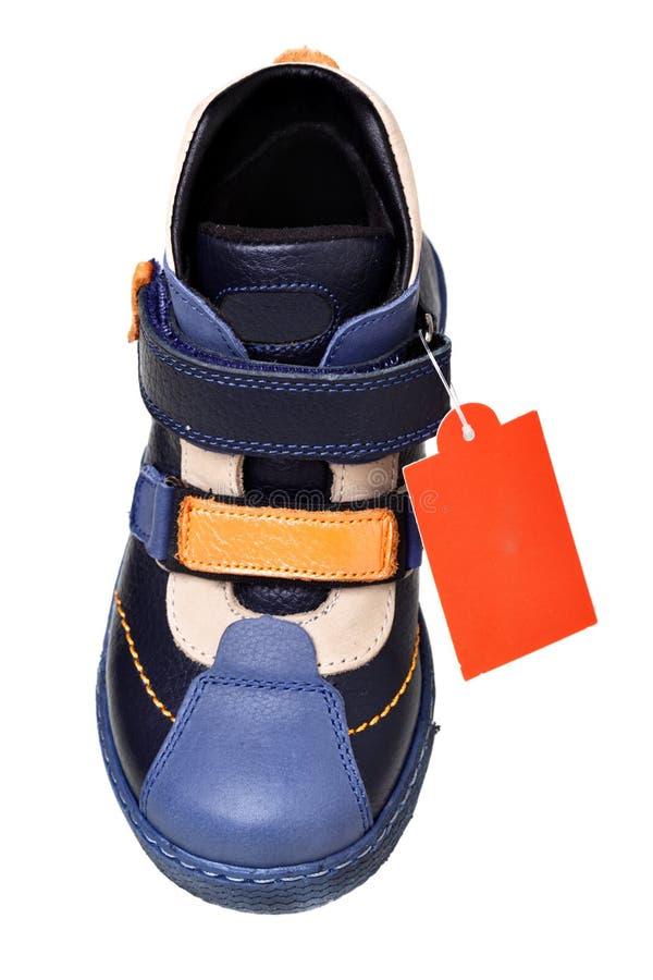 Schuh mit Marke stockfoto