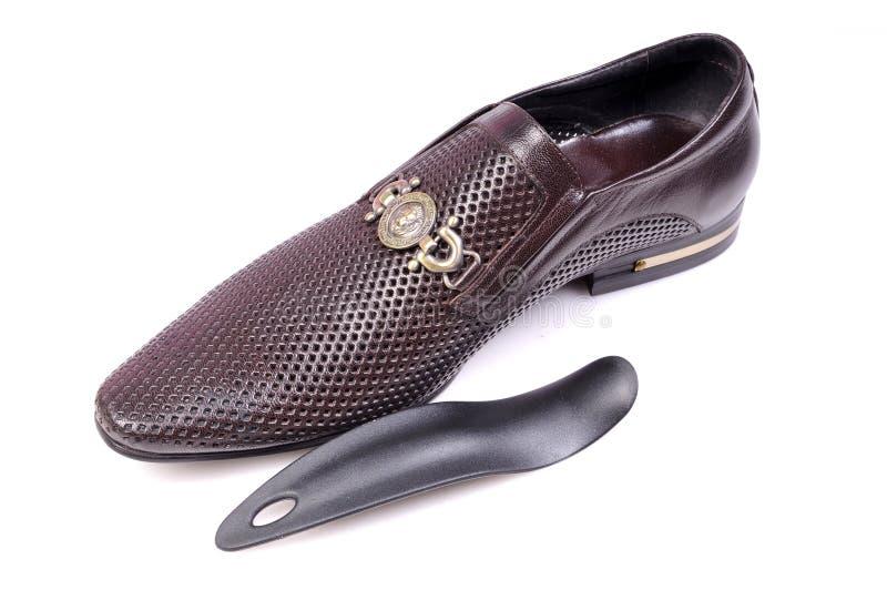 Schuh und spachtel stockfoto