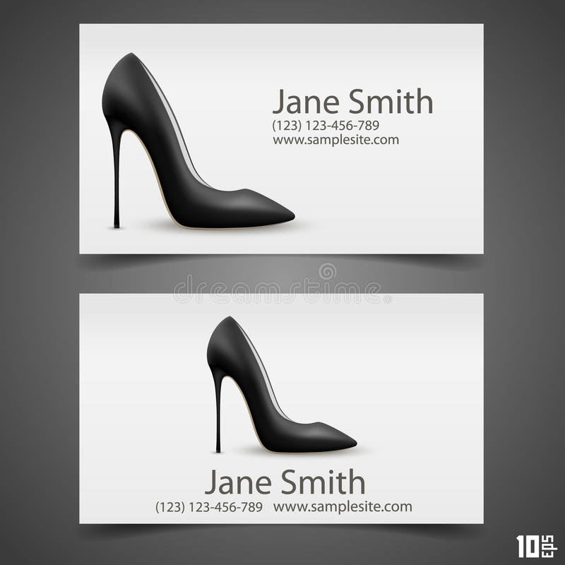 Schuh-Vektorvisitenkarte der Frauen stock abbildung