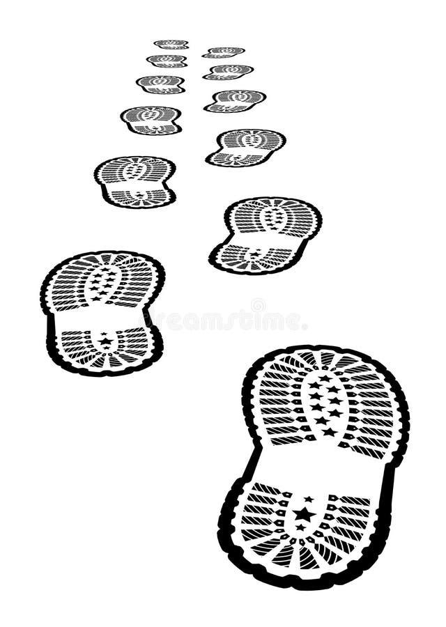 Schuhabdruck lizenzfreie abbildung